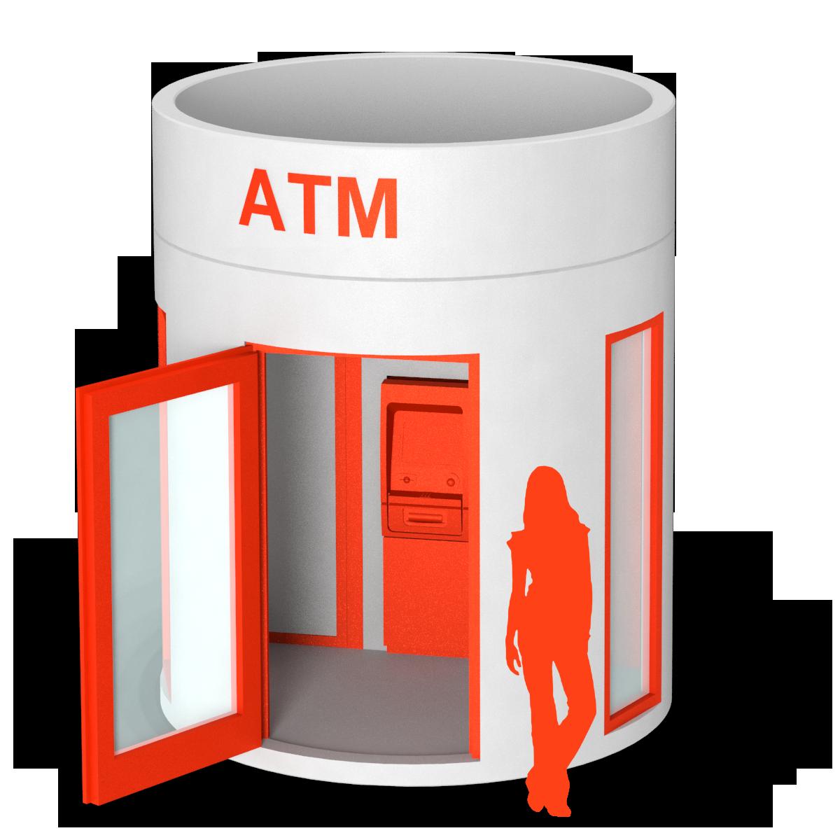 bboxx Geldautomat 1 ATM mit Vorraum
