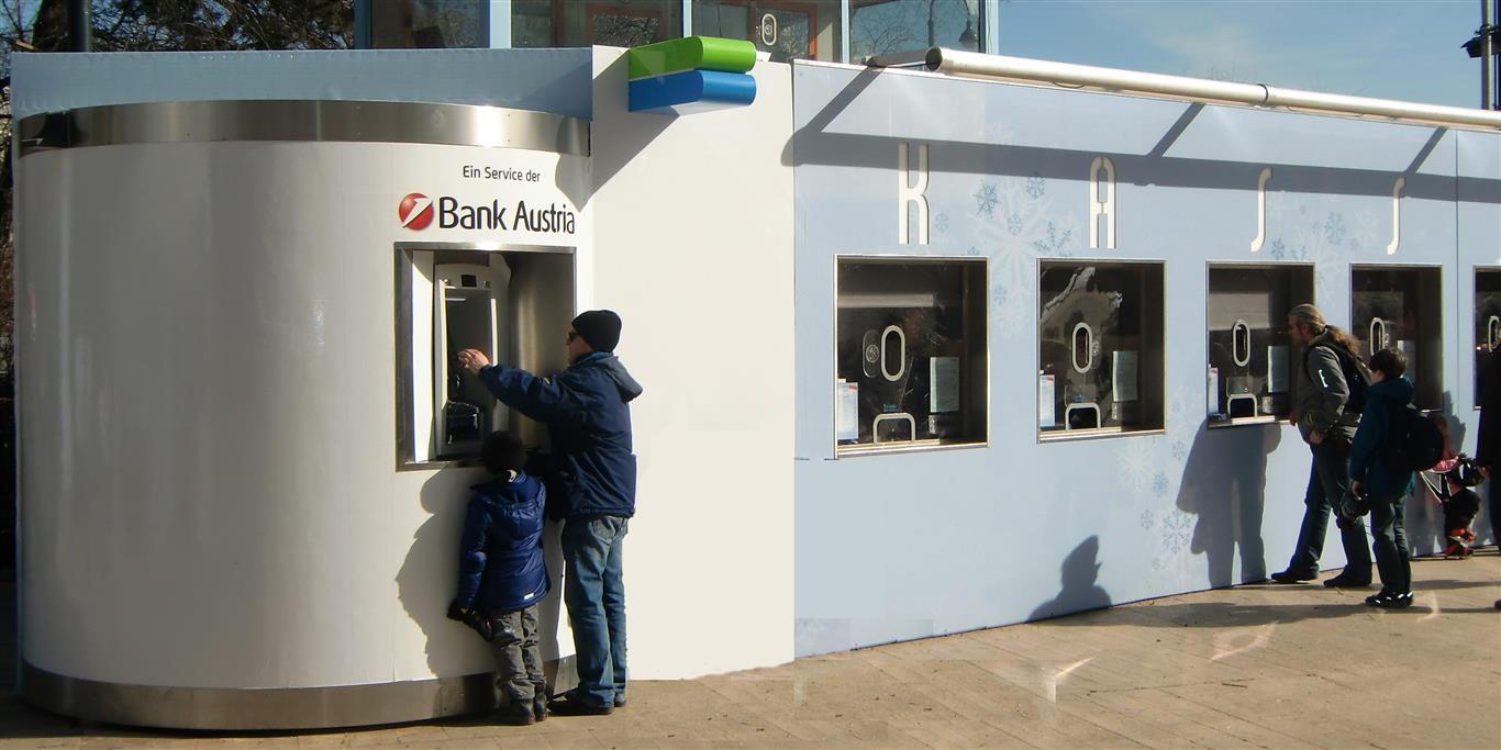 bboxx Geldautomat am Einlass