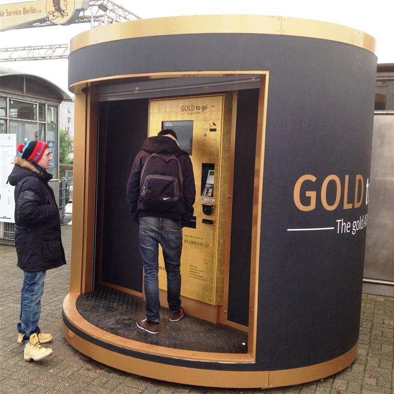 Mobiler Geldautomat als Gold-ATM