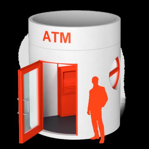 bboxx Geldautomat Foyer hochstabile Umhausung für ATM mit verschließbarem Foyer