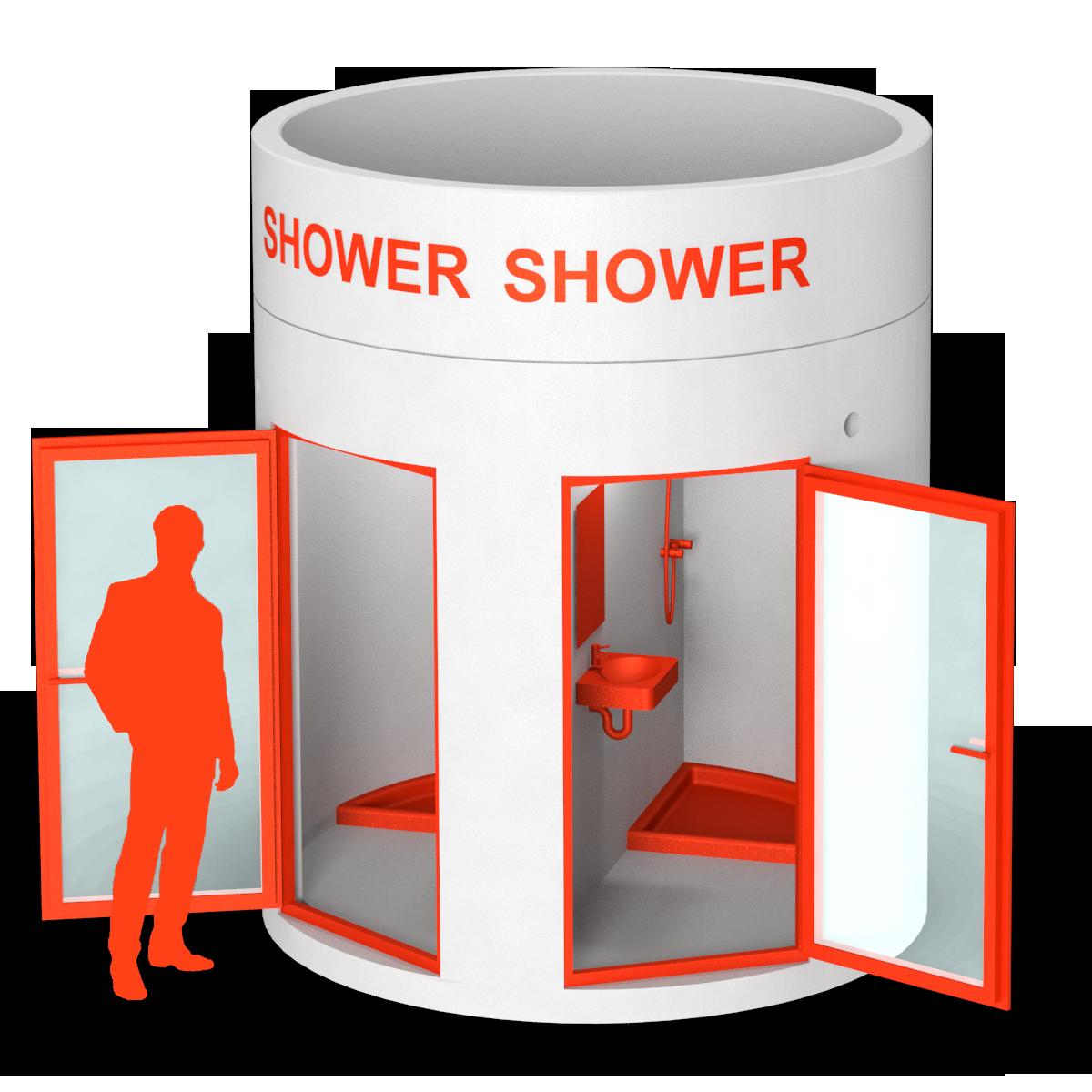 bboxx Mobile Duschkabine 2 Duschen