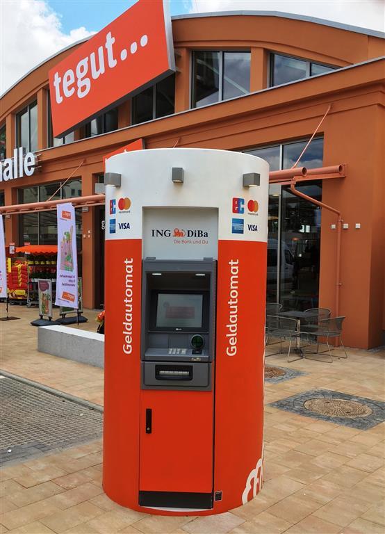 Mobiler Geldautomat von Veloform Referenz Ing DiBa in Weimar
