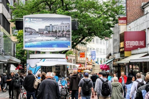 bboxx LEDAdTower bei Kieler Woche bboxx mobile LED Außenwerbung