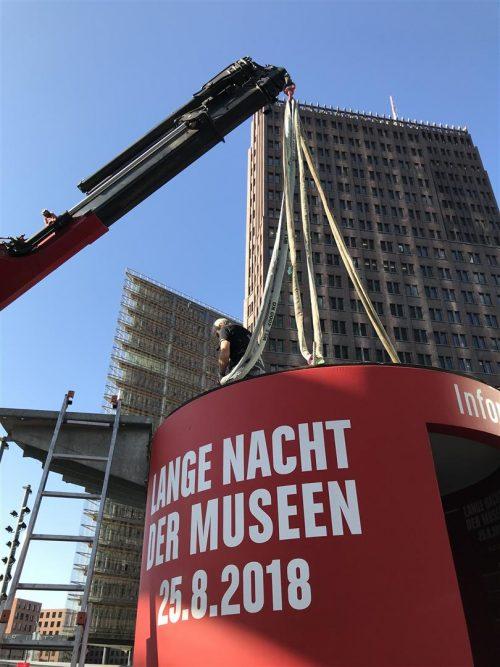 bboxx Dialog als Infostand der Langen Nacht der Museen Berlin