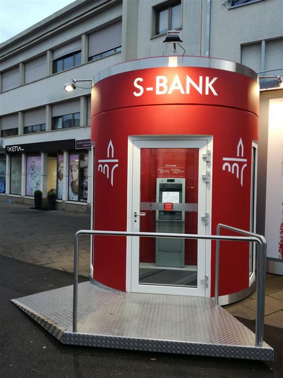 Veloform bboxx Geldautomat mit Vorraum Sparkasse