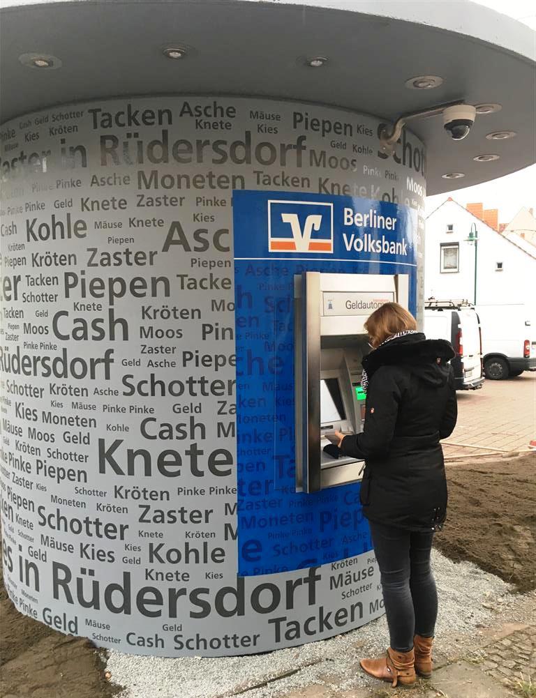 Veloform bboxx Geldautomat Referenz Volksbank Zasterlaster