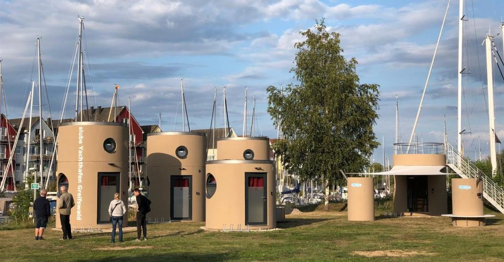 Veloform slube Mini-Hotels Yachthafen Greifswald