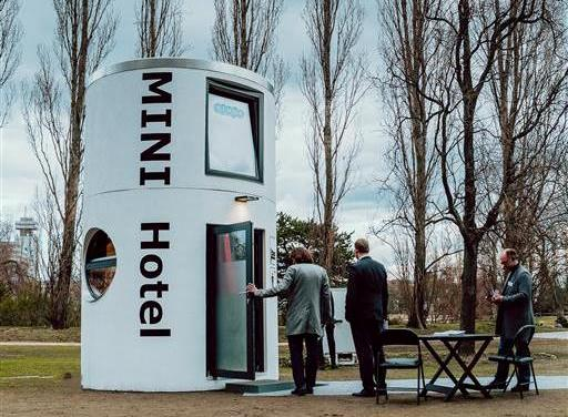 Veloform bboxx slube home Mini-Hotel at ITB trade fair