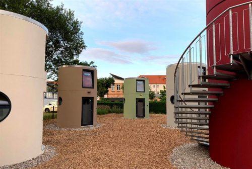 Neue bboxx slube Mini-Hotels von Veloform am Stadthafen Neustrelitz