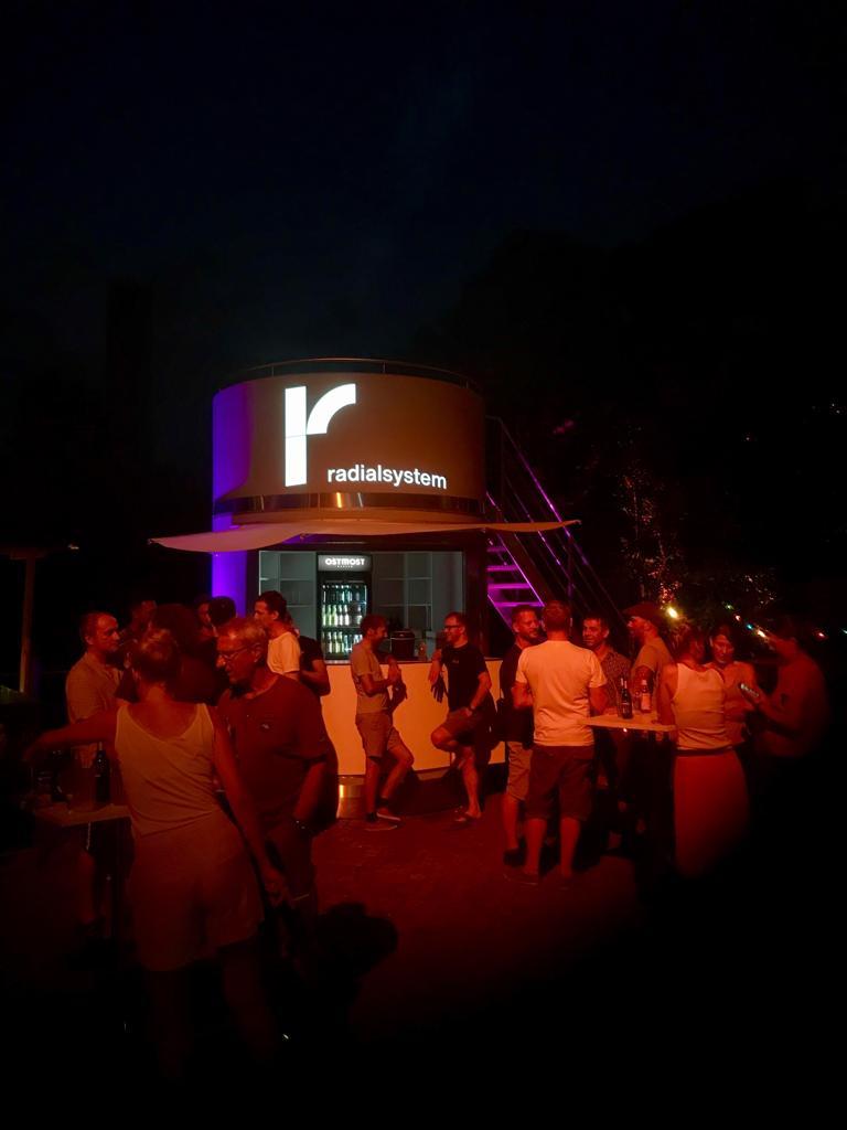 Veloform bboxx mobiler Kiosk Radialsystem Berlin