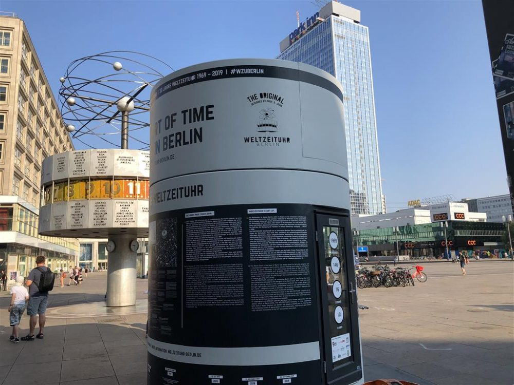 Veloform bboxx References Weltzeituhr mobile Information Booth