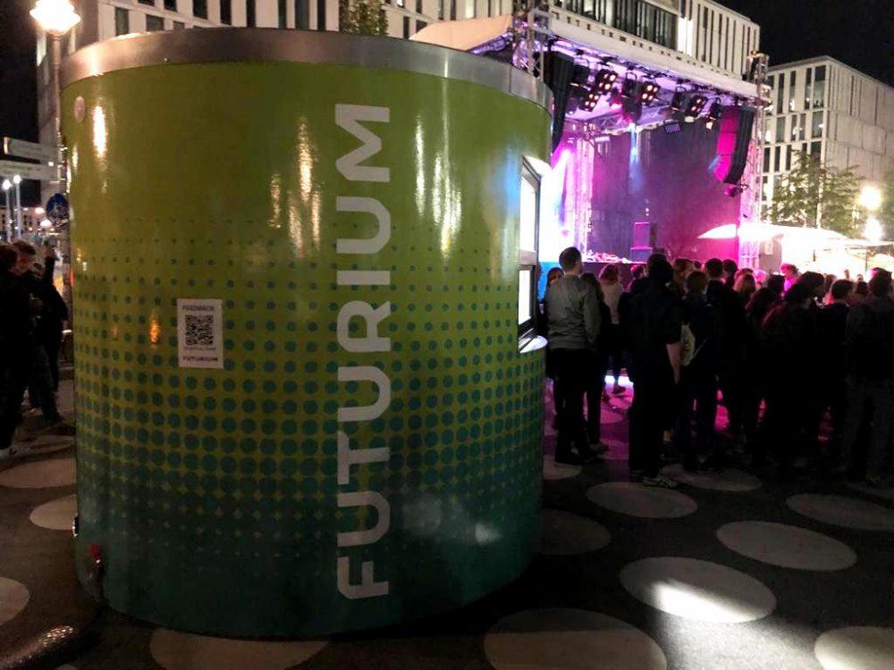 Veloform bboxx ticket booth Futurium