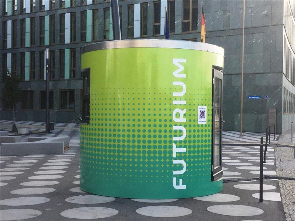 Veloform bboxx Ticketstand Infostand Eröffnung Futurium Berlin