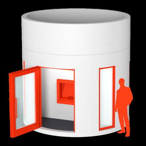 Veloform bboxx Geldautomat Foyer PLUS hochstabiler Filialersatz für Banken