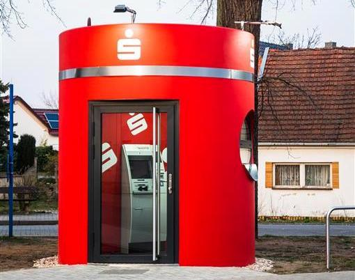 Veloform bboxx Geldautomat Foyer hochstabiler SB-Pavillon