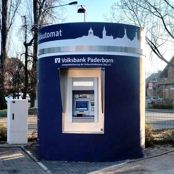Veloform bboxx ATM Window References Volksbank Paderborn