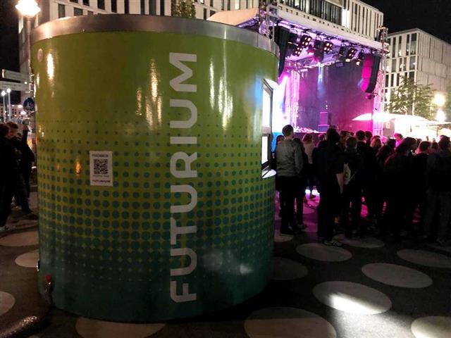 Veloform bboxx Ticketstand Futurium Eröffnung 2019