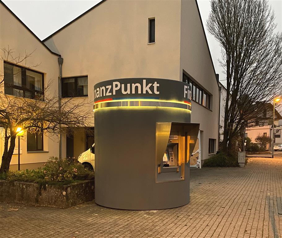 Veloform bboxx Geldautomat Window Referenz Taunus Sparkasse Frankfurter Volksbank