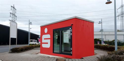 Veloform bboxx Geldautomat Rechteck freistehender SB-Pavillon
