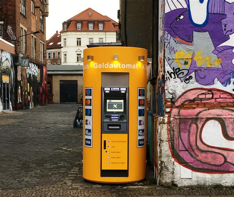 Veloform bboxx Geldautomat kompakt Referenz Euronet Leipzig