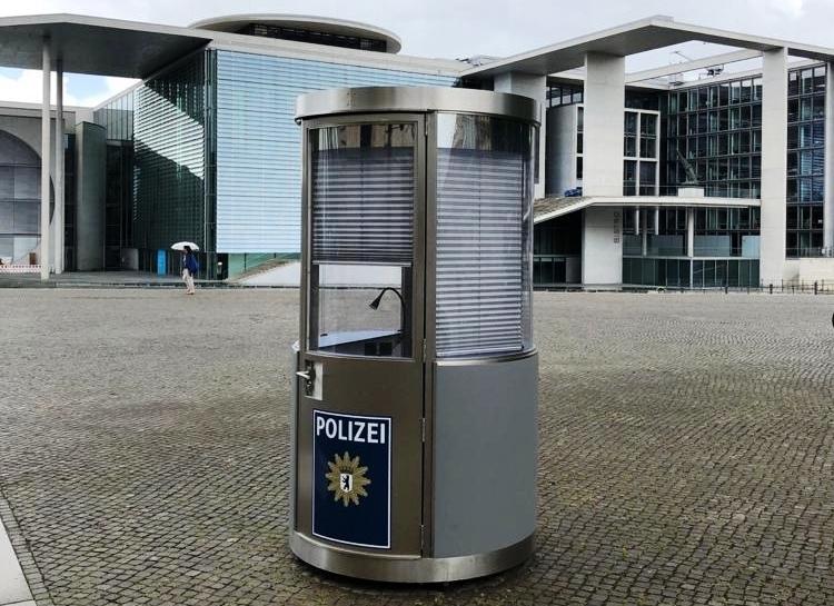 Veloform bboxx Postenhaus Sicherheits-Pavillon für Wachposten im öffentlichen Raum